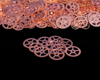 CopperSteampunk Gears, Steampunk Accessories, Steampunk Craft Jewelry Supply- 10qty - 1 Inch (25.4mm) Gears