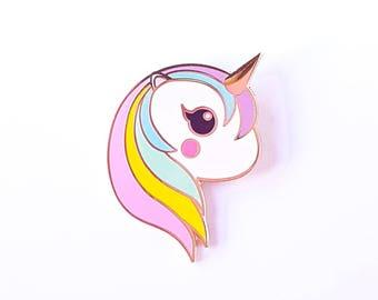 Unicorn rainbow pin   Cute Unicorn pastel enamel pin badge   Unicorn lapel pin kawaii    Unicorn kawaii pin   Cute gift for her