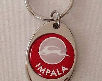 Chevrolet Impala Keychain Chrome Plated Solid Metal Key Chain