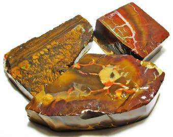 Opal boulder yowah ref4000/40001/40002 - undrilled - x 3