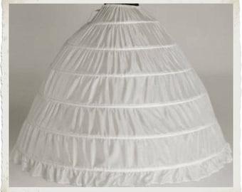 Civil War Reenactment Junior Ladies or Plus (Ball Gown) 6 Hoop Skirt Bridal Petticoat
