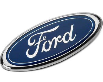 Blue FORD 2004-2014 F150 Front Grille Tailgate Emblem Oval Decal Badge Nameplate 4L3Z-1542528-AB