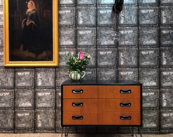 Vintage gplan chest of drawers hairpin legs