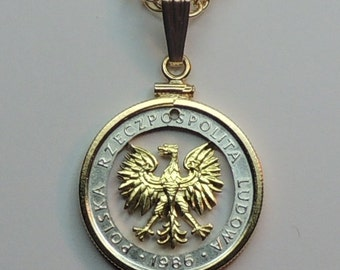 """Polish """"Eagle"""", Coin Necklaces,   Beautifully Cut out & 2-toned"""