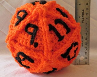 Crocheted D20 for DnD