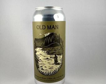La bière peut bougie, arbre maison vieillard soja bougie, bougie de bières artisanales