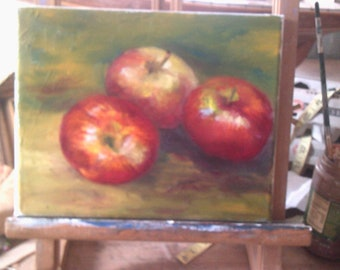 Oil on Canvas Original Still Life Apples