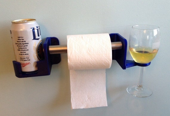 His And Hers Toilet Paper Holder For Beverages 3d Printed By