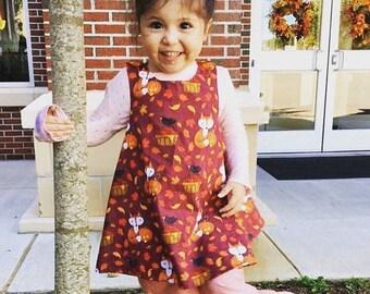 Reversible Wrap Dress toddler & girl sizes any fabric