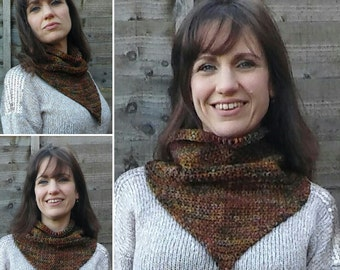 Country Western Handmade Crocheted Cowgirl Style Women's Cowl/ Women's Neck Scarf/Crocheted Cowl/ Crocheted Scarf/ Triangle Scarf