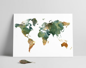 South africa south africa map minimal map printable files printable filewatercolor world mapmap printwatercolorworld map print gumiabroncs Choice Image
