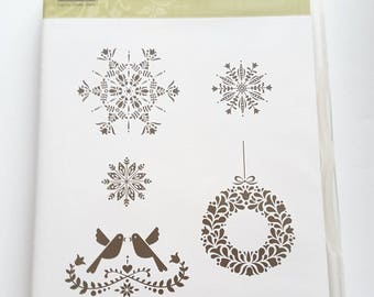 STAMPIN' UP! *Northern Hearts* Retired and Rare 5 Clear Mount Rubber Stamps.