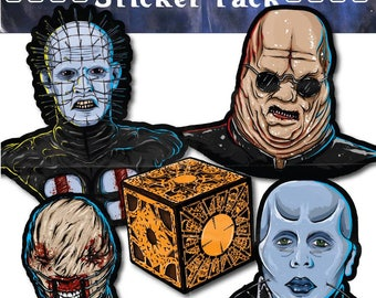 The Order Of The Gash sticker pack (horror stickers pinhead cenobite hellraiser chatterrer butterball puzzle box laments configuration )