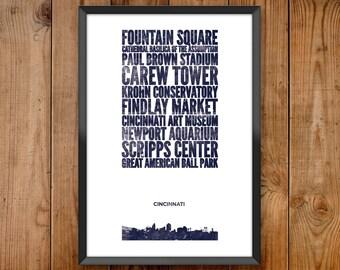 Cincinnati City Print
