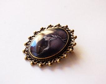 House Baratheon of Storm's End Crest - Game of Thrones Jewelry - Baratheon Pin - Baratheon Brooch - Baratheon Stag - Baratheon Jewelry - GoT