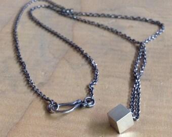 Lil' Cube Pendant Necklace