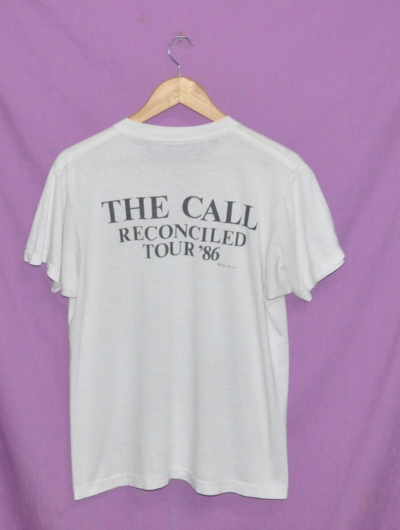 Reconciled Call 86 1986 New Tour T tess Rock Wave 80s Vintage Band Shirt The band twZBqnX