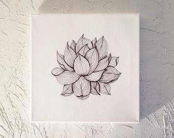 Lotus ink on canvas