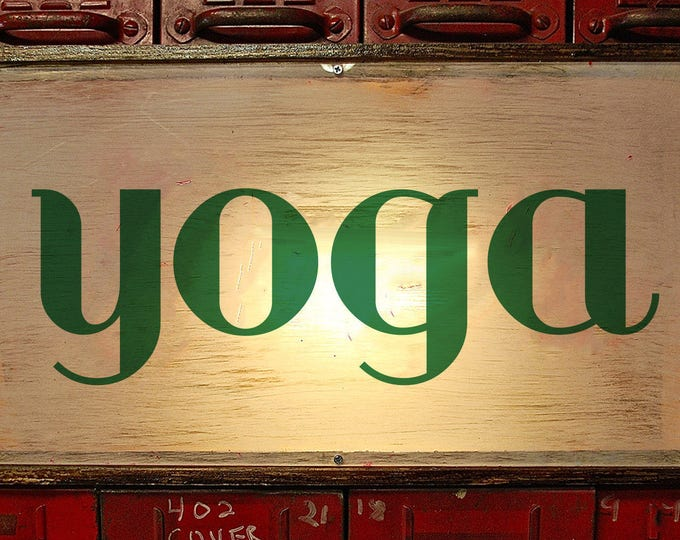 Art Deco Bold Custom Light Box Yoga Sign
