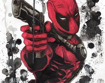 Dead Pool - Marvel fan art print