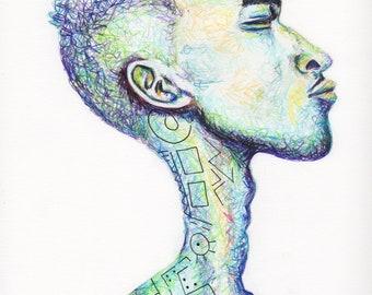 Art Print - Blue Dude