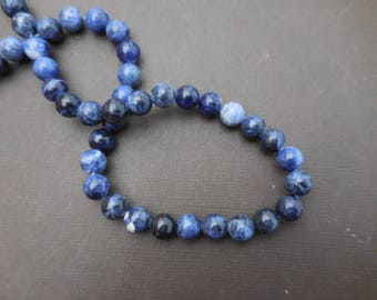 Sodalite: 20 mm round beads 4 - precious stones blue