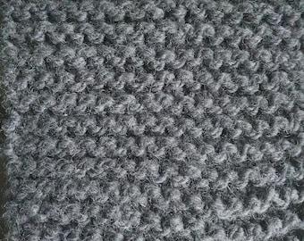 Charcoal Grey Wool Scarf
