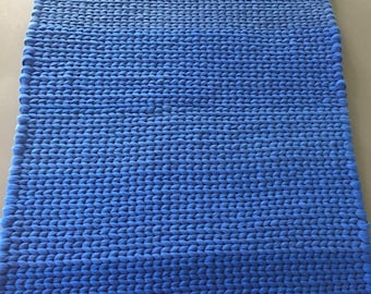 Twined Rug- Shades of Blue