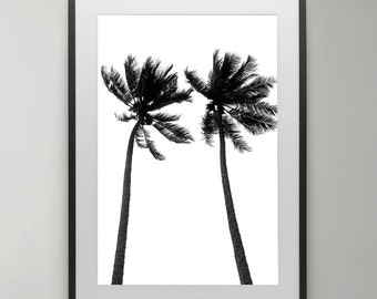 Palm trees Print, Typography Art, Summer Print, Tropical wall art, Tropical,Instant Download, Beach Art Print, Home decor, Typography Poster