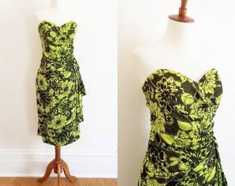 1980s Silk Studio Sarong Dress