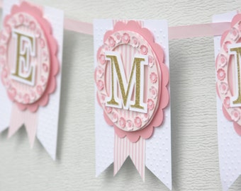 pink and gold baby shower, first birthday party decorations, pink and gold decor, birthday decorations, pink and gold decor