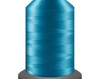 blue thread, quilting thread, sewing machine thread, glide no 40, Tex 27, sewing thread, 1000m cone, Robin Egg thread, polyester thread