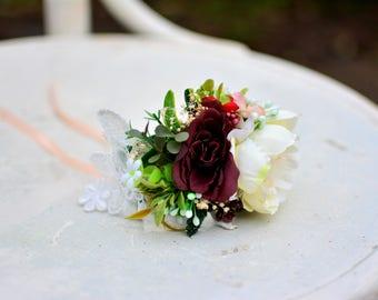 "Flower Bracelet ""Autumn Wedding"""
