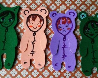 plush foam bookmarks people funny faces manga kawaii colourful