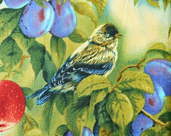 """Packed Birds Bird Sanctuary  - Wild Wings, Rosemary Millette for SP - Cotton Fabric - 67"""" x 43""""/1.8 yards/170cm x 110cm - F3"""