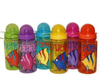 Personalized Water Bottle - Fish / Ocean
