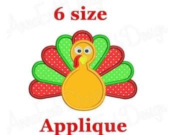 Turkey Applique Embroidery Design. Thanksgiving Turkey embroidery designs. Turkey mini.  Autumn design. Machine embroidery designs.