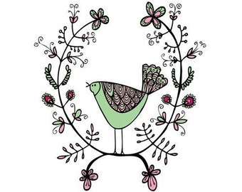 Greeting Card - Emblem Bird