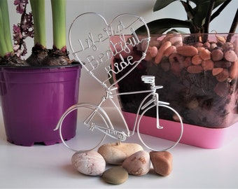 WIRE BICYCLE MODEL Aluminium Wire Art Sculpture Handmade