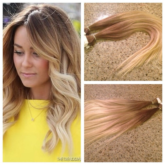 5 Star Ombre Cuticle Remy Human Hair Keratin Fusion Tape In