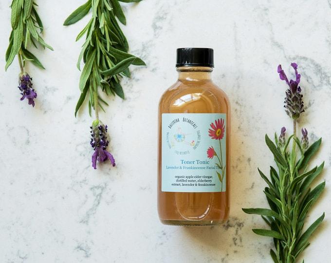 Anti Aging Facial Toner | Apple Cider Vinegar Toner | With Lavender & Frankincense | Organic Toner for Aging and Combination Skin Types 4oz