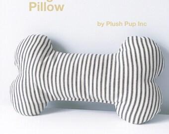 Dog Bone Pillow, Head Support Pillow for Dogs, Bone Pillow, Ticking dog bone pillow, Dog Bone Toy, Dog Bolster Pillow, Dog Pillow