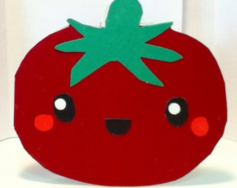 Handmade Kawaii Tomato Card- Cardstock