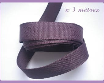 extra strong 15 mm AUBERGINE Ribbon 3 meters