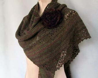 Ladies Knitted Lace Wrap