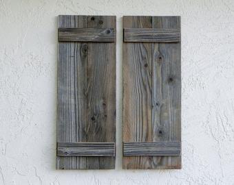 Rustic Shutters. Set of 2. Barn Doors. Shutters Wall Decor. Rustic Farmhouse Decor. Rustic  Shutters. Indoor/Outdoor.  Antique Shutters. L