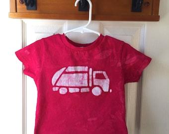 Garbage Truck Shirt, Kids Truck Shirt, Boys Garbage Truck Shirt, Red Truck Shirt, Girls Truck Shirt, Boys Truck Shirt (2T)
