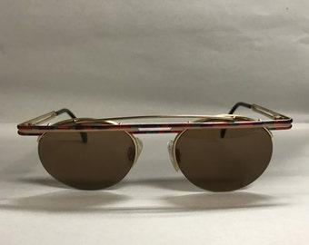 Cazal gold oval vintage sunglasses