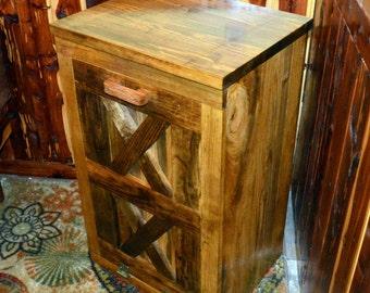Wood Trash Bin Cabinet, Tilt Out Trash Bin, Wood Trash Can