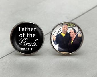 Father of the Bride Cufflinks, personalized cufflinks